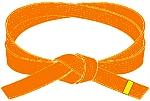 centura portocalie cu tresa galbena