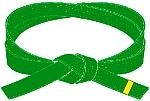 centura verde cu tresa