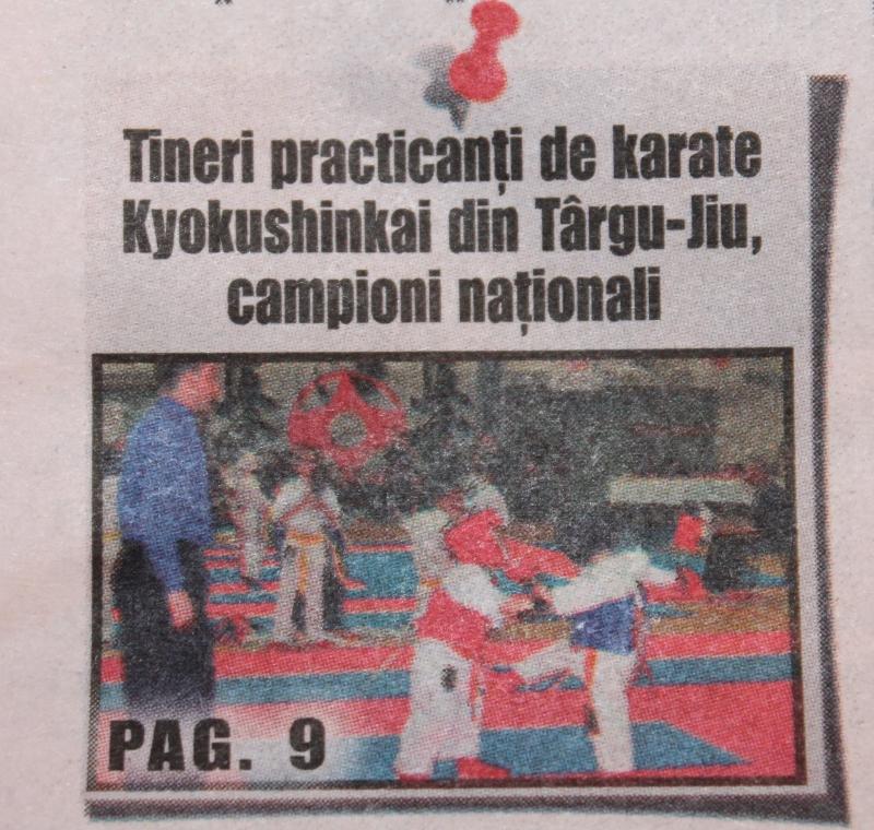 aparitii in presa arte martiale tg jiu 3