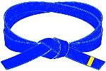 centura albastra cu tresa