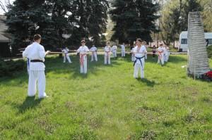 Antrenament Karate tg jiu in parc